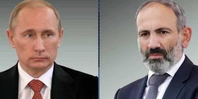 Путин и Пашинян по телефону обсудили ситуацию вокруг Нагорного Карабаха