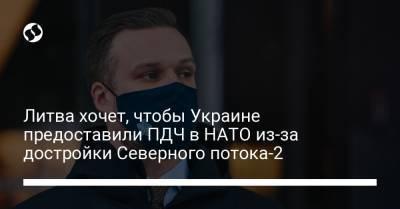 Литва хочет, чтобы Украине предоставили ПДЧ в НАТО из-за достройки Северного потока-2