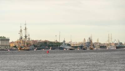 Парад по случаю Дня ВМФ начался в Петербурге