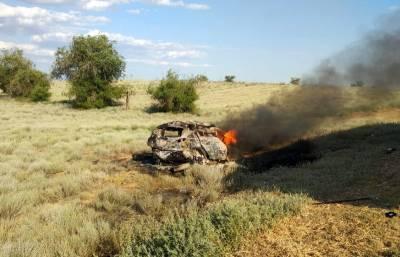 Пять человек сгорели заживо при столкновении иномарки с КАМАЗом под Астраханью