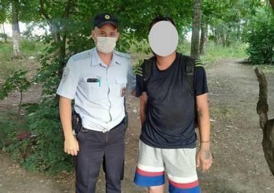 В Рязани патрульные полицейские задержали находившегося в розыске мужчину