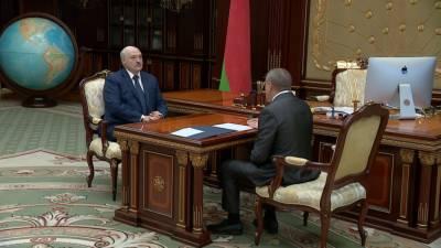 А. Лукашенко провёл рабочую встречу с министром иностранных дел