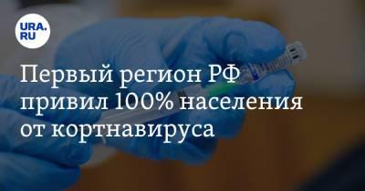 Первый регион РФ привил 100% населения от коронавируса