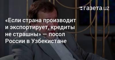 «Если страна производит и экспортирует, кредиты ей не страшны» — посол РФ в Узбекистане