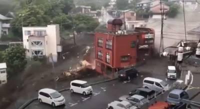 Сильный оползень в Японии — пропали без вести два десятка человек