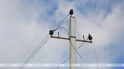 В Лоевском и Петриковском районах из-за грозового фронта нарушалось электроснабжение