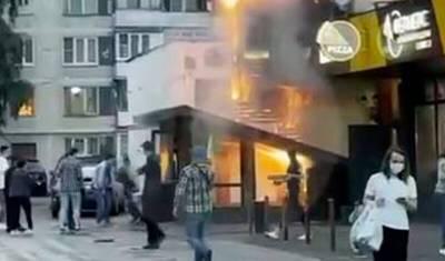 На юго-западе Москвы сгорело кафе