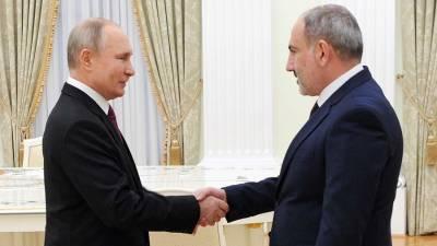 Путин и Пашинян проведут встречу в Москве 7 июля