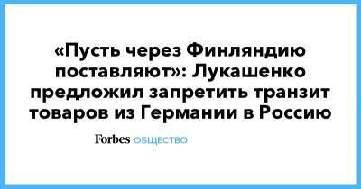 «Пусть через Финляндию поставляют»: Лукашенко предложил запретить транзит товаров из Германии в Россию