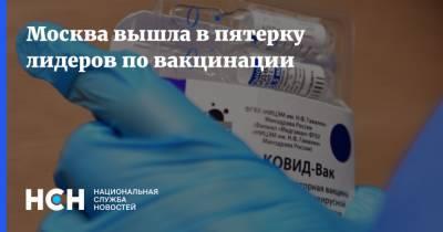 Москва вышла в пятерку лидеров по вакцинации