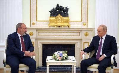 Путин на встрече с Пашиняном отметил, что у премьера Армении есть доверие народа