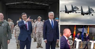 В Литве прервали брифинг на базе НАТО: Гитанас Науседа, Педро Санчес – видео