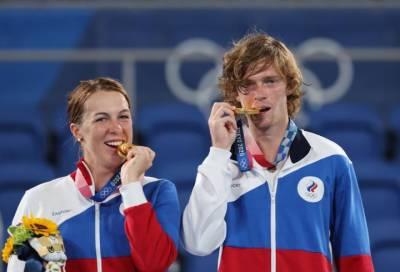 Российские теннисисты заняли первое место в смешанном разряде на Олимпийских играх
