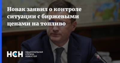 Новак заявил о контроле ситуации с биржевыми ценами на топливо