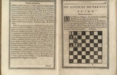 В Италии опубликовали онлайн самую старую книгу об игре в шахматы. Она была издана в 1597 году