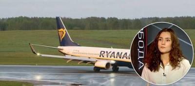 Девушка Протасевича заявила госТВ Беларуси, что к посадке самолета Ryanair причастны его экс-коллеги