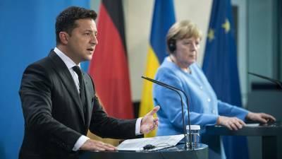 Зеленский обсудит с Меркель гарантии Берлина после запуска СП-2