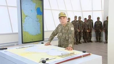 Бердымухамедов открыл новую часть ВМС и здания погранзаставы. Пограничников кормят по книге президента