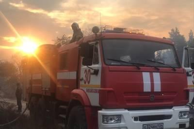 Природный пожар в Даниловском районе под Волгоградом локализовали