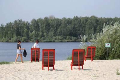 В Нижнем Новгороде открыли новый пляж с велодорожкой и зоной тихого отдыха