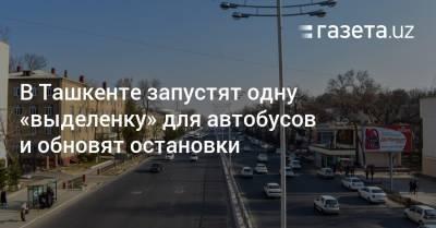В Ташкенте запустят одну «выделенку» для автобусов и обновят остановки
