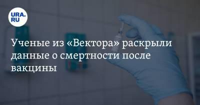 Ученые из «Вектора» раскрыли данные о смертности после вакцины