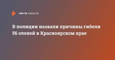 В полиции назвали причины гибели 56 оленей в Красноярском крае