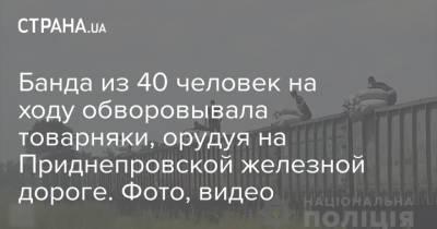 Банда из 40 человек на ходу обворовывала товарняки, орудуя на Приднепровской железной дороге. Фото, видео