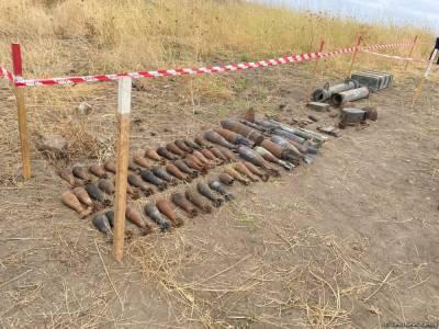 Еще 96 га освобожденных территорий Азербайджана очищены от мин и неразорвавшихся боеприпасов