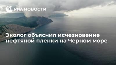 Эколог Чупров: шторм разнес нефтяную пленку по поверхности Черного моря