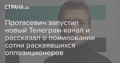 Протасевич запустил новый Телеграм-канал и рассказал о помиловании сотни раскаявшихся оппозиционеров