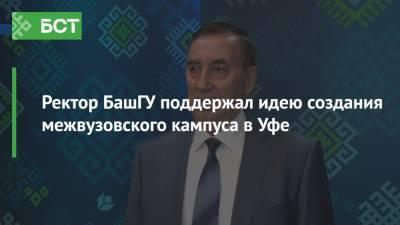 Ректор БашГУ поддержал идею создания межвузовского кампуса в Уфе