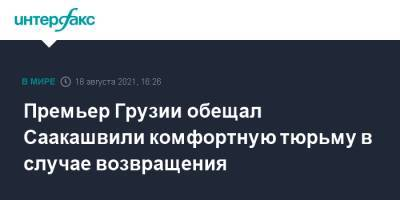 Премьер Грузии обещал Саакашвили комфортную тюрьму в случае возвращения