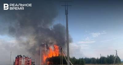 В Татарстане на границе двух районов произошел лесной пожар