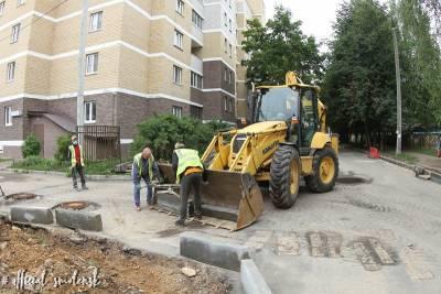 В Смоленске активно ведутся работы по ремонту межквартальных проездов