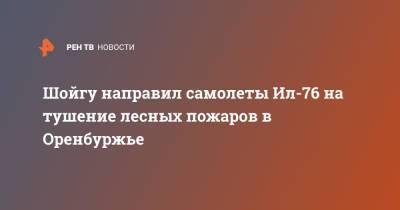 Шойгу направил самолеты Ил-76 на тушение лесных пожаров в Оренбуржье
