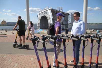 Шалабаев проверил соблюдения правил движения на электросамокатах в Нижнем Новгороде