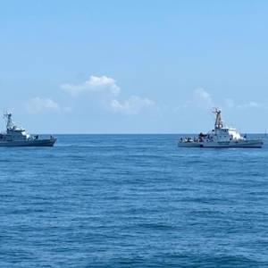 Грузия и Украина провели учения в Черном море. Фото