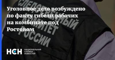 Уголовное дело возбуждено по факту гибели рабочих на комбинате под Ростовом