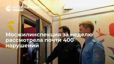 Жилинспекция Москвы на этой неделе рассмотрела 394 дела об административных правонарушениях