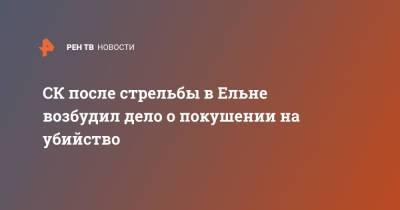 СК после стрельбы в Ельне возбудил дело о покушении на убийство