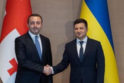 Зеленский принял в Киеве премьера Грузии Гарибашвили
