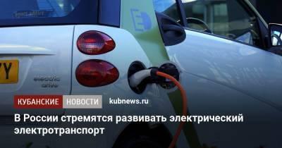 В России хотят увеличить количество электромобилей