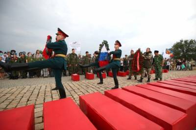 Под Волгоградом захоронили останки защитников Сталинграда
