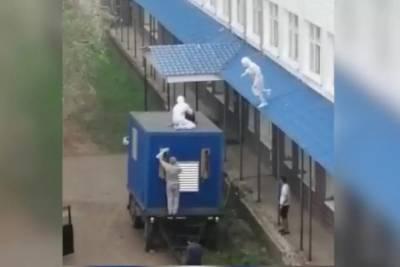 В Башкирии пациент COVID-госпиталя пытался сбежать через окно