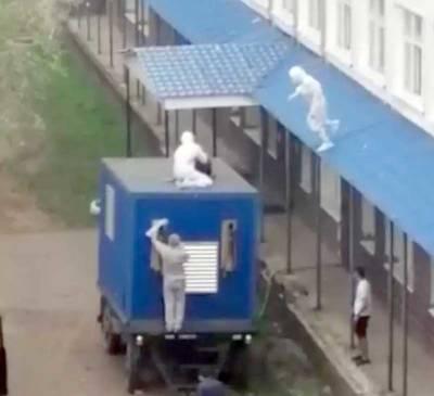 В Башкирии пациент пытался сбежать из ковид-госпиталя