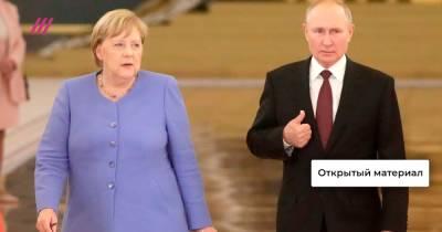 Розы канцлеру, тюрьма Навальному. Как Путин попрощался с Меркель и какие гарантии она дала Зеленскому