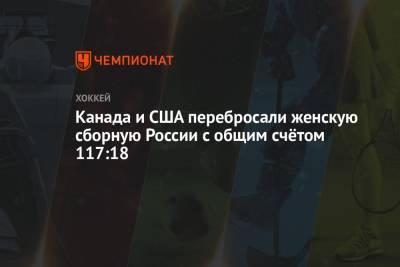 Канада и США перебросали женскую сборную России с общим счётом 117:18