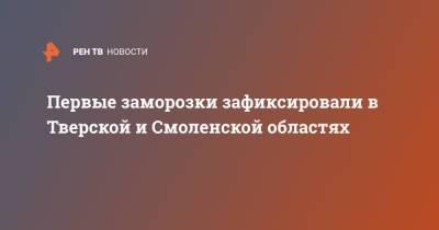 Первые заморозки зафиксировали в Тверской и Смоленской областях