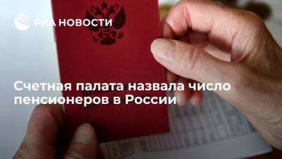 Счетная палата: число пенсионеров в России на 1 апреля 2021 года составило 42,6 миллиона человек